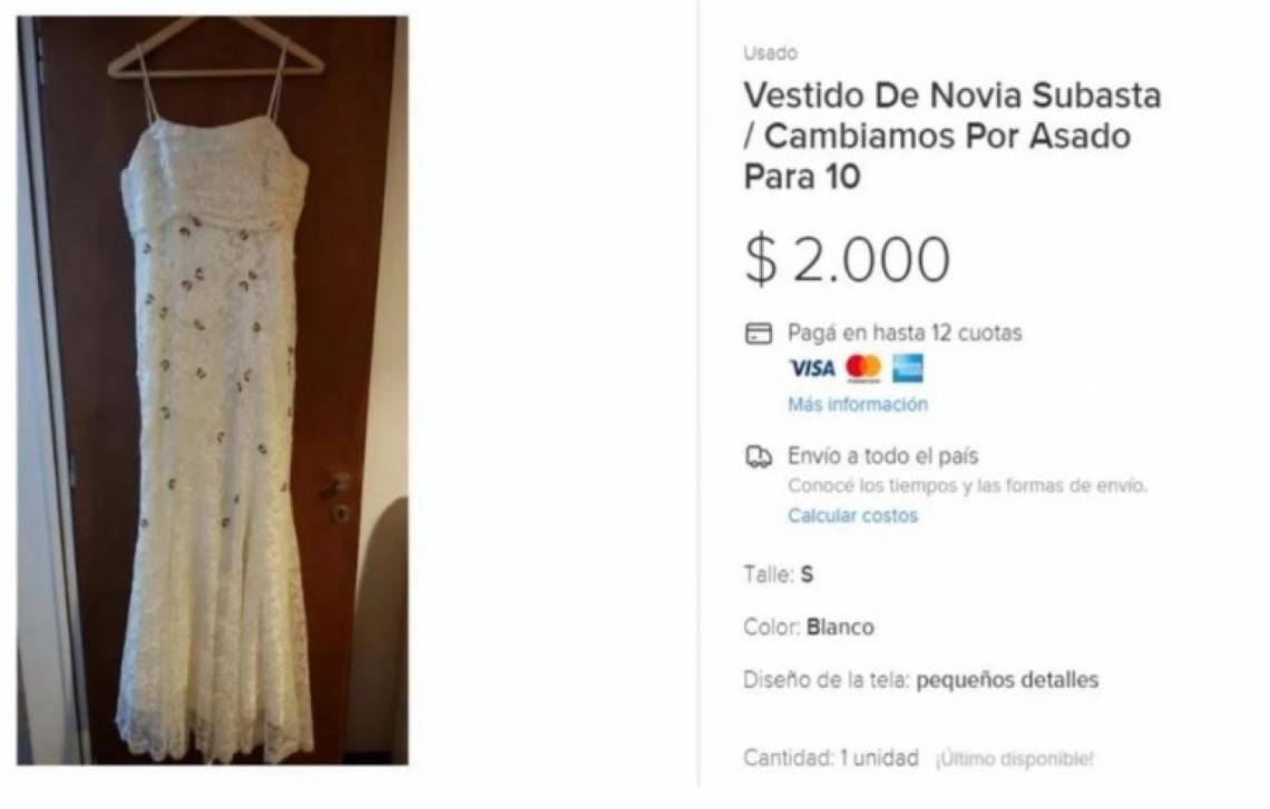 80c360580 Se divorció y cambia su vestido de bodas por un asado con amigos ...