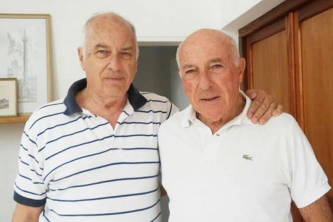 Cacho y Rubén, las dos primeras personas que fueron reconocidas como hijos de Fangio.