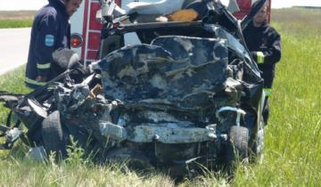 Imagen de Ruta 33: murió un médico al chocar su auto de frente contra un camión