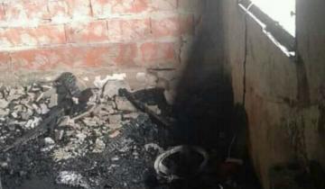 Imagen de Piden donaciones para una familia que perdió todo en un incendio