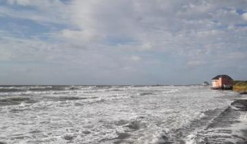 Imagen de Emiten un alerta por crecidas del mar en la Costa Atlántica