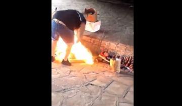 Imagen de Indignante: filmaron cómo prendieron fuego a dos personas que dormían en la calle