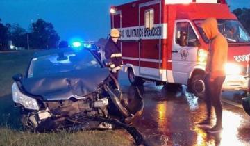Imagen de Cuatro autos protagonizaron un choque en la Ruta 2