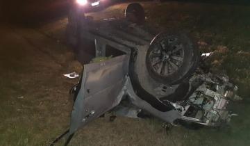 Imagen de Milagro en la Autovía 2: chocó contra un camión, se despistó y volcó, pero salvó su vida