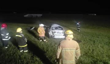 Imagen de Un muerto y un herido en un vuelco en la Autovía 2
