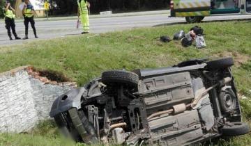 Imagen de Ruta 2: cuatro heridos por un fuerte vuelco en Chascomús