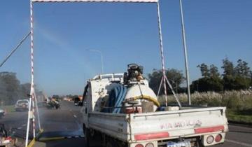 Imagen de Autovía 2: instalan un arco sanitizante en el ingreso a Mar del Plata