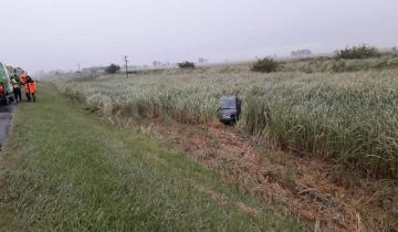 Imagen de Una persona herida tras un despiste en la Autovía 2 a la altura de Castelli