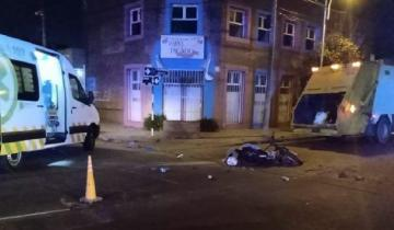 Imagen de Tragedia en Mar del Plata: Un camión recolector chocó y mató a un adolescente en moto