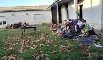 Imagen de Se incendió un depósito de Cáritas en Castelli