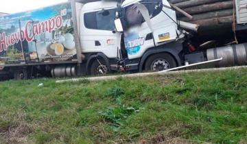 Imagen de Trágico accidente en la Ruta 18 involucró a tres camiones: murió un hombre