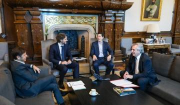Imagen de Alberto Fernández se reunió con Axel Kicillof