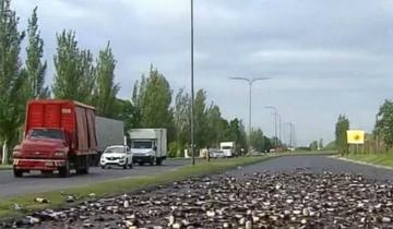 Imagen de Aprovecharon el vuelco de un camión de cerveza y llenaron su bidones