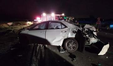 Imagen de Trece personas heridas tras un accidente en la Ruta 11