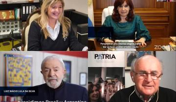 Imagen de Cristina Kirchner y Lula da Silva compartieron un acto virtual