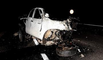 Imagen de Olavarría: dos muertos en impactante choque frontal sobre la Ruta 51