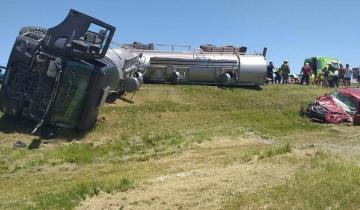 Imagen de Un triple choque en la Ruta 2 terminó con 8 heridos