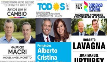 Imagen de Elecciones 2019: se conocieron las boletas presidenciales que estarán en el cuarto oscuro