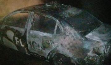 Imagen de Se incendió un patrullero en Dolores e investigan si fue intencional