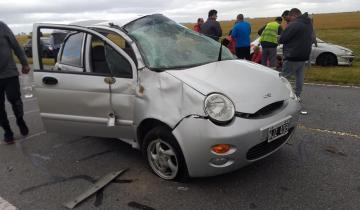 Imagen de Cinco heridos tras un accidente en Ruta 63