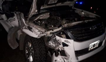 Imagen de Ruta 205: perdió el control de su camioneta e impactó contra la parte trasera de un camión