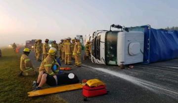 Imagen de Un toro suelto provocó un grave accidente en la ruta 2