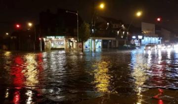 Imagen de La lluvia golpea con fuerza a Mar del Plata: ya hay 18 evacuados