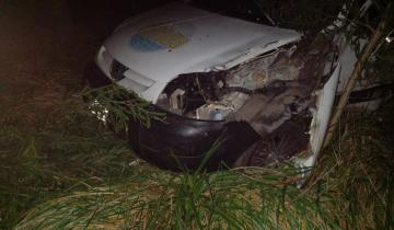 Imagen de Manejaba borracho, despistó y chocó un árbol en la ruta 41