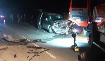 Imagen de Dos muertos en un choque frontal en la ruta