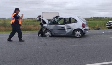 Imagen de Ruta 11: fuerte accidente entre General Lavalle y Tordillo