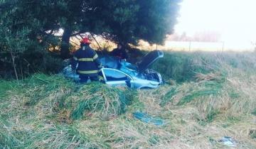 Imagen de Un policía de Dolores sufrió un fuerte accidente en la Ruta 41