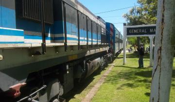 Imagen de Una formación ferroviaria realizó un nuevo viaje de prueba en la región del Tuyú