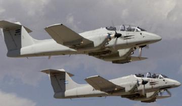 Imagen de Se realizarán ejercicios con aviones Pucará en Villa Gesell