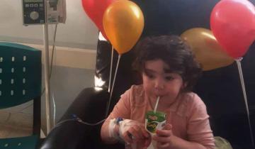 Imagen de Eloísa, la nena de Dolores trasplantada en pandemia, tiene curación completa
