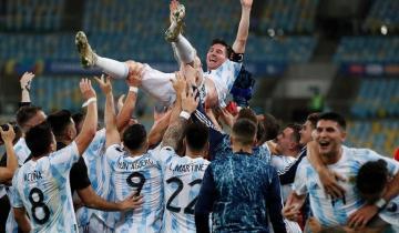 Imagen de La selección Argentina campeona de la Copa América