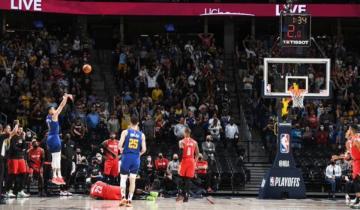 Imagen de Denver Nuggets, el equipo de Campazzo en la NBA, quedó a un paso de avanzar a las semifinales del Oeste