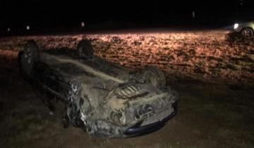 Imagen de Un hombre murió luego de despistar y volcar en la Ruta 11