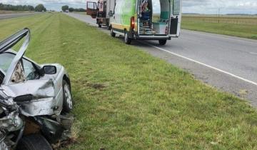 Imagen de Severo accidente en la Ruta 2: una familia debió ser trasladada al hospital