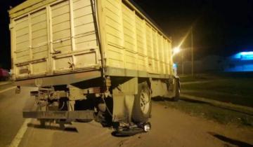 "Imagen de Un camionero dobló en ""U"" en la Ruta 226 y atropelló a un motociclista"