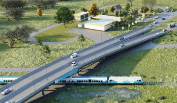 """Imagen de Marinucci: """"El puente sobre la Ruta 63 no afectará el circuito comercial de Dolores"""""""