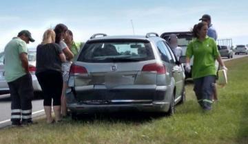 Imagen de Accidente en General Lavalle dejó varias personas golpeadas