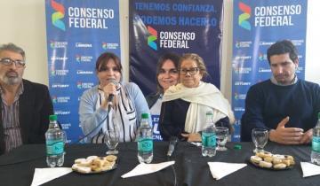 """Imagen de Graciela Camaño en Dolores: """"El FMI va a tener que renegociar los plazos de la deuda"""""""