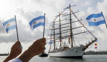Imagen de La legendaria fragata Libertad llega este fin de semana a Mar del Plata