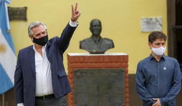 Imagen de 17 de octubre: el Presidente Alberto Fernández visitó la Isla Martín García