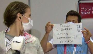 Imagen de La propuesta de casamiento en vivo que recibió Belén Pérez Maurice