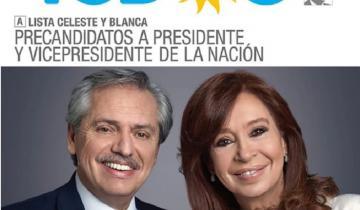 Imagen de Así es la boleta presidencial de la fórmula Fernández-Fernández del Frente de Todos
