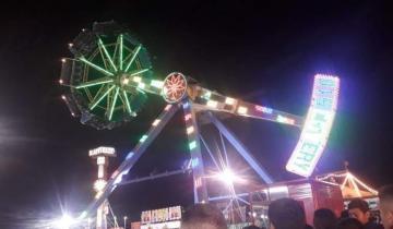 Imagen de Pánico en el aire al romperse un juego de un parque de diversiones en San Juan