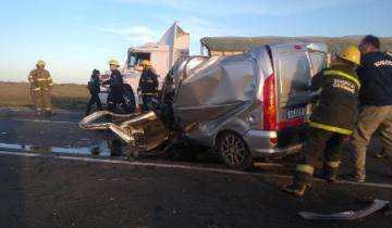 Imagen de Cuádruple choque sobre la Ruta 3: murió una mujer y hay dos heridos
