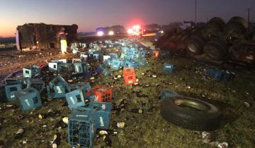 Imagen de Murió un bebé y hay al menos 5 heridos tras un múltiple accidente en Ruta 2 a la altura de Chascomús