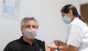 Imagen de Alberto Fernández recibió la primera dosis de la vacuna Sputnik V